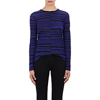 Proenza Schouler Women's Tissue Weight Long Sleeve T Shirt Blue Black Blue Black