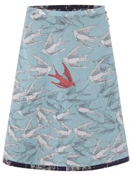 White Stuff Fluttering Reversible Skirt Navy