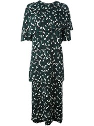 Marni Stream Print Midi Dress Green