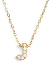 Women's Nadri Cubic Zirconia Initial Pendant Necklace J Gold