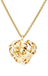 Stazia Loren Women's Oversized Heart Pendant Necklace Gold