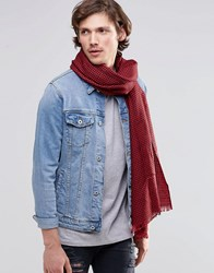 Scotch And Soda Scotch And Soda Check Scarf Red