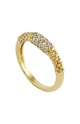 Lagos Caviar Diamond Ring Gold