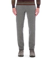 Missoni Pure Cashmere Drawstring Trousers Grey