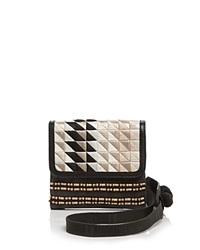 Toms Crossbody Abroad Triangle Embroidered Black