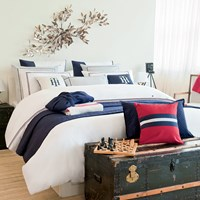 Tommy Hilfiger White Couture Trim Duvet Cover Super King