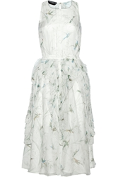 Rochas Printed Silk Chiffon Midi Dress