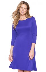 Plus Size Women's Eloquii Ruffle Hem Scuba Knit Dress