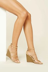 Forever 21 Strappy Faux Suede Wedges