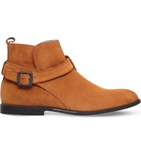 Kg By Kurt Geiger Lester Suede Ankle Boots Tan
