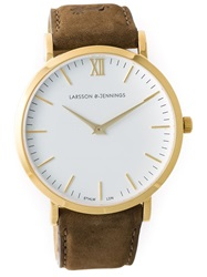 Larsson And Jennings 'L Der' Watch Brown