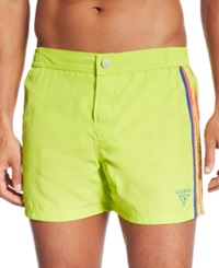 Guess Short Board Swim Trunks Green