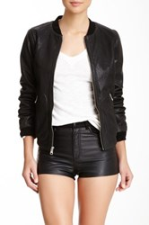 Andrew Marc New York Mesh Leather Jacket Black