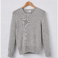 Johnstons Of Elgin Silver Women's Cashmere Sweater