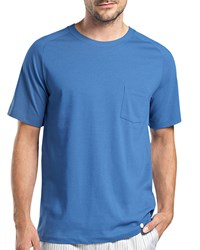 Hanro Alvaro Short Sleeve Lounge Tee Blue Size Medium
