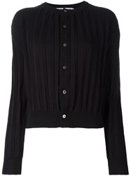 Comme Des Garcons Ribbed Cropped Cardigan Black