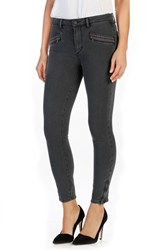 Paige Women's Transcend Riona Embroidered Ankle Skinny Jeans
