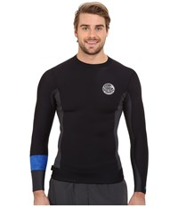 Rip Curl Aggrolite 1.5Mm Long Sleeve Jacket Black Men's Swimwear