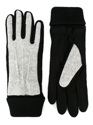 Carven Padded Panel Gloves Grey
