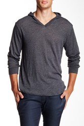 Threads 4 Thought V Neck Long Sleeve Hoodie Gray