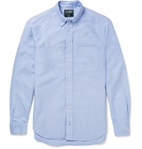 Gitman Brothers Vintage Slim Fit Button Down Collar Cotton Oxford Shirt Blue