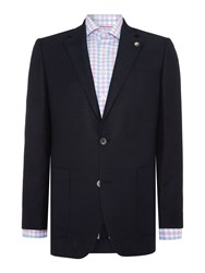 Chester Barrie Tailored Fit Jacket Wool Linen Navy