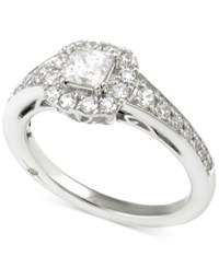 Marchesa Certified Diamond Princess Engagement Ring 1 Ct. T.W. In 18K White Gold