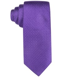 Ryan Seacrest Distinction New Textured Solid Slim Tie Only At Macy's Purple