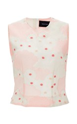 Simone Rocha Silk Cotton Blend Kimono Top Pink