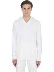 Calvin Klein Jeans Infinity White Hooded Cotton Sweatshirt