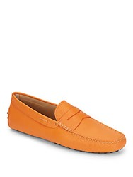 Tod's Suede Leather Driving Shoe Orange