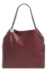 Stella Mccartney 'Small Falabella Shaggy Deer' Faux Leather Tote Purple 6110 Plum