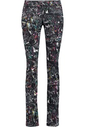Mcq By Alexander Mcqueen Printed Mid Rise Slim Leg Jeans