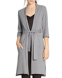 Halston Heritage Belted Long Cardigan Heather Gray