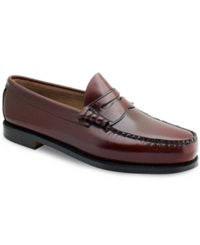 Bass Larson Penny Loafers Men's Shoes Burgundy
