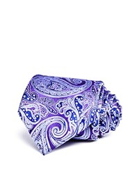 Bloomingdale's The Men's Store At Traditional Paisley Classic Tie Purple