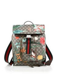Gucci Gg Supreme Printed Backpack Beige Ebony