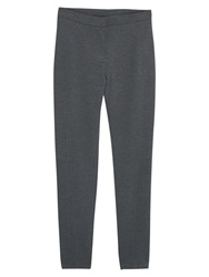 Mango Textured Leggings Dark Grey