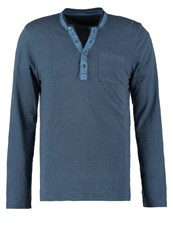 Tom Tailor Fitted Long Sleeved Top Gasoline Blue Green