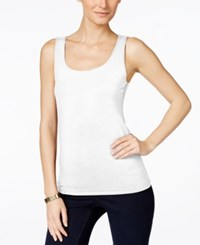 Inc International Concepts Woman Inc International Concepts Square Neck Tank Top White