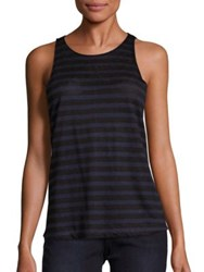 Frame Army Striped Tank Top Navy And Noir Stripe