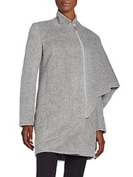 Akris Aldona Alpaca And Wool Cape Coat Quartzite
