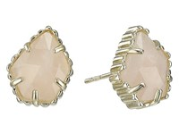 Kendra Scott Tessa Earring Gold Rose Quartz Earring