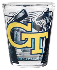 Hunter Manufacturing Georgia Tech Yellow Jackets 3D Collector Glass