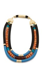 Holst Lee Santa Fe Statement Necklace Gold Multi