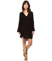 Rock And Roll Cowgirl Long Sleeve Dress D4 8247 Black Women's Dress