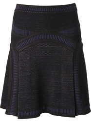 Roberto Cavalli Crochet Knit Flared Skirt Black