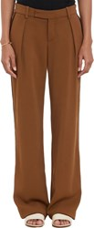 A.L.C. Piped Wide Leg Kurtis Trousers Brown Size 8 Us
