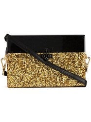 Edie Parker Small 'Trunk Half Half' Crossbody Bag Metallic