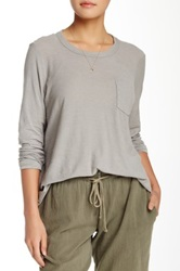 James Perse A Line Pocket Tee Beige